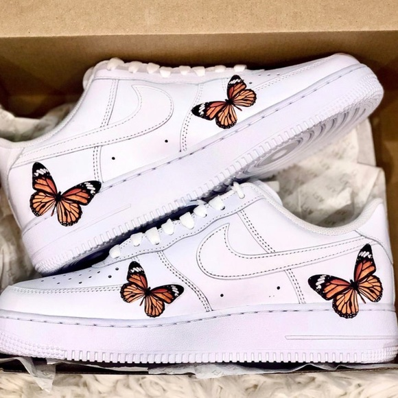 Nike Shoes | Custom Air Force Butterfly